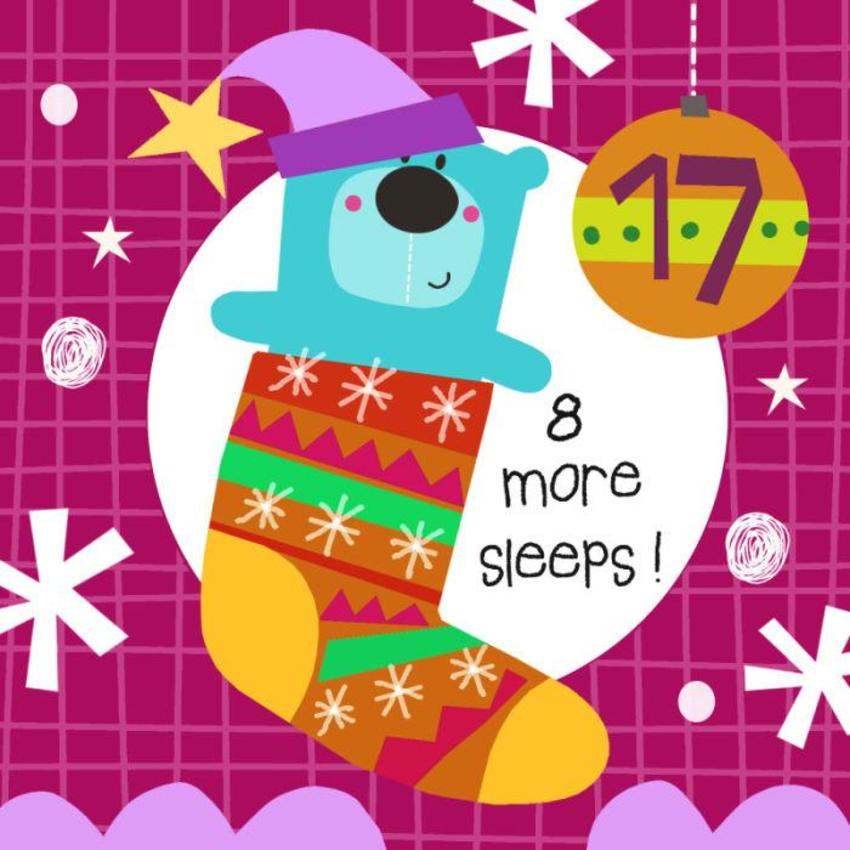 17 Jayne Schofield Christmas Bear And Stocking Advent