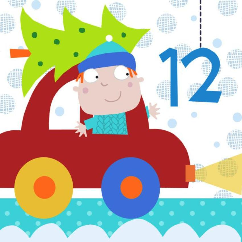 12 Jayne Schofield Christmas Tree And Car Advent
