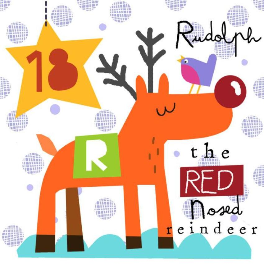 18 Jayne Schofield Christmas Rudolph And Robin Advent