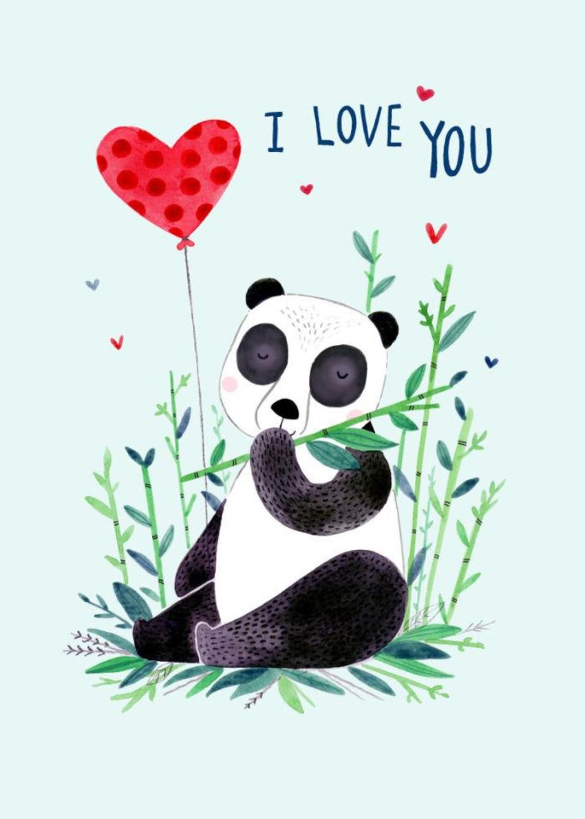 Felicity French Valentines I LOVE YOU PANDA