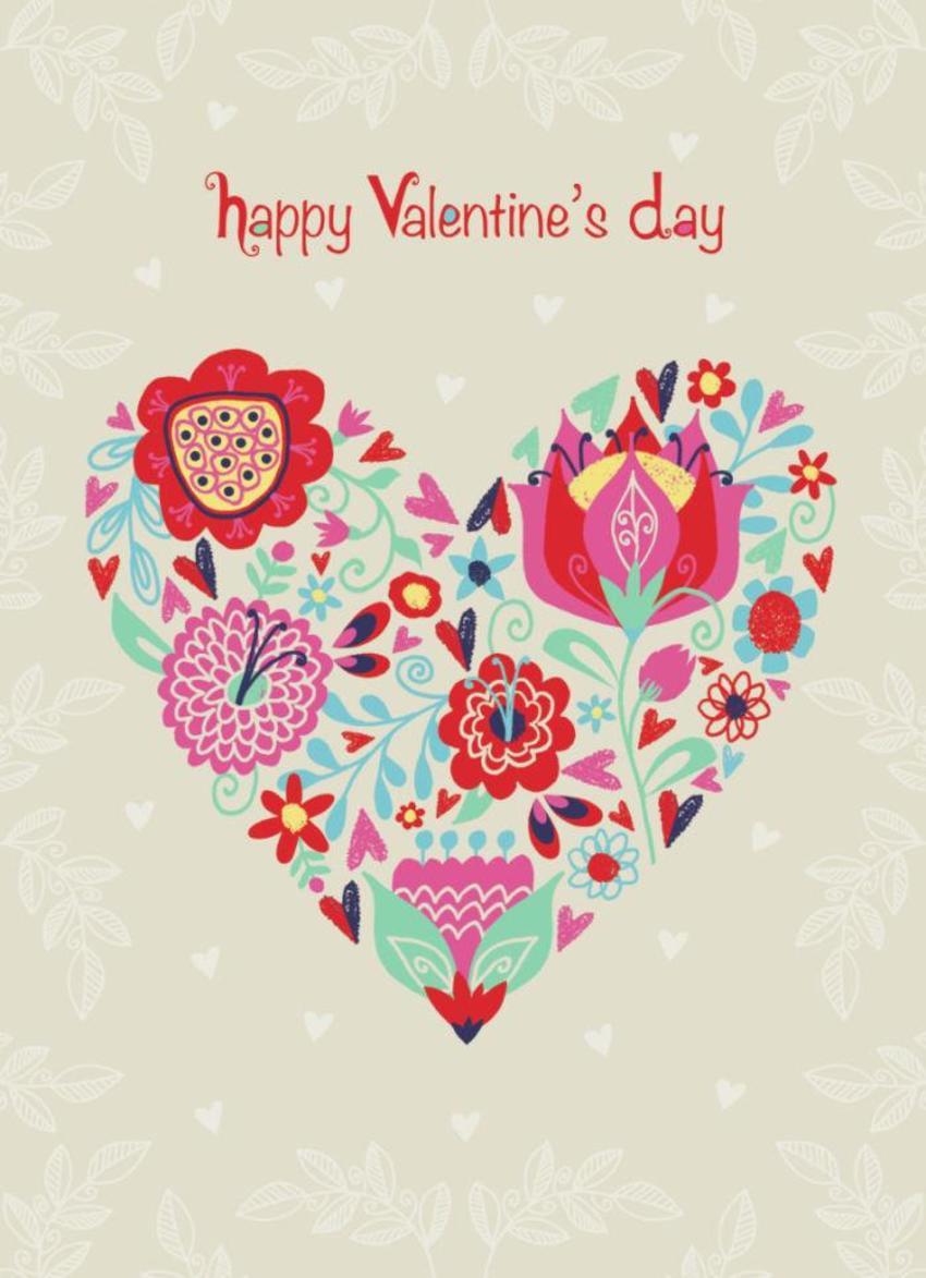 Valentine Modern Heart Flowers