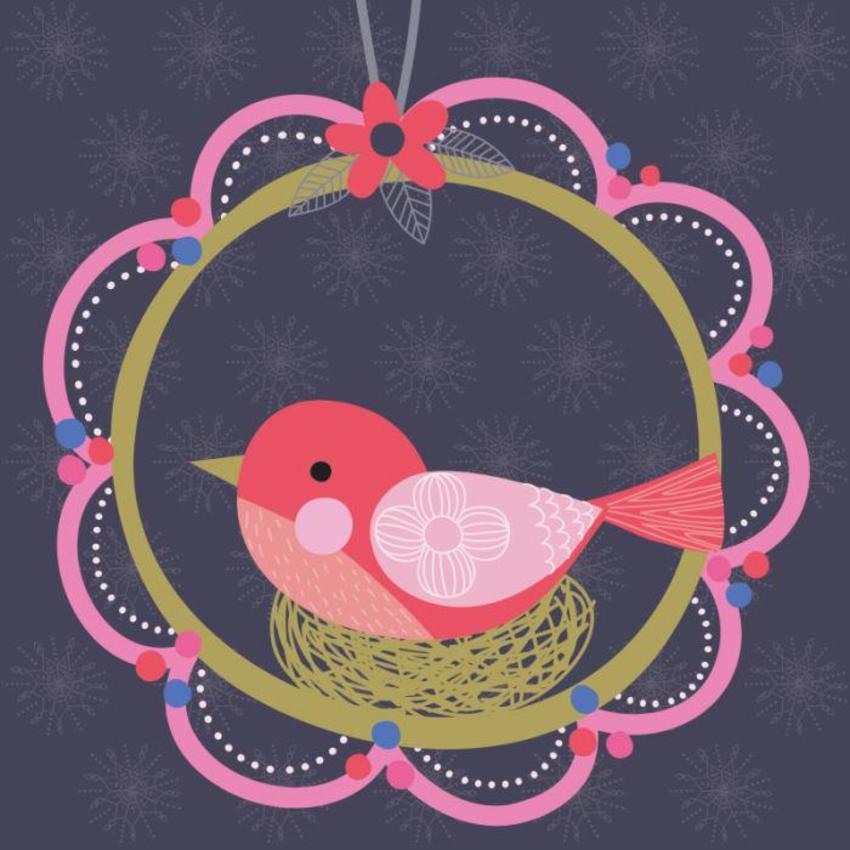 Christmas Card - GM_Bird On Nest