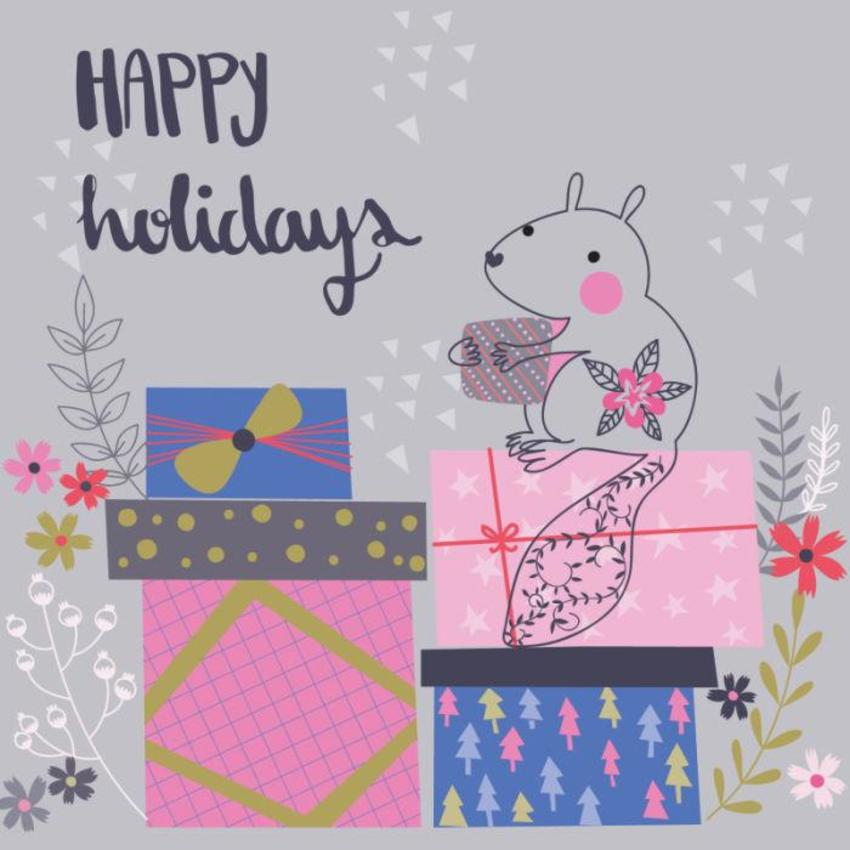 Christmas Card - GM_Squirrel With Presents