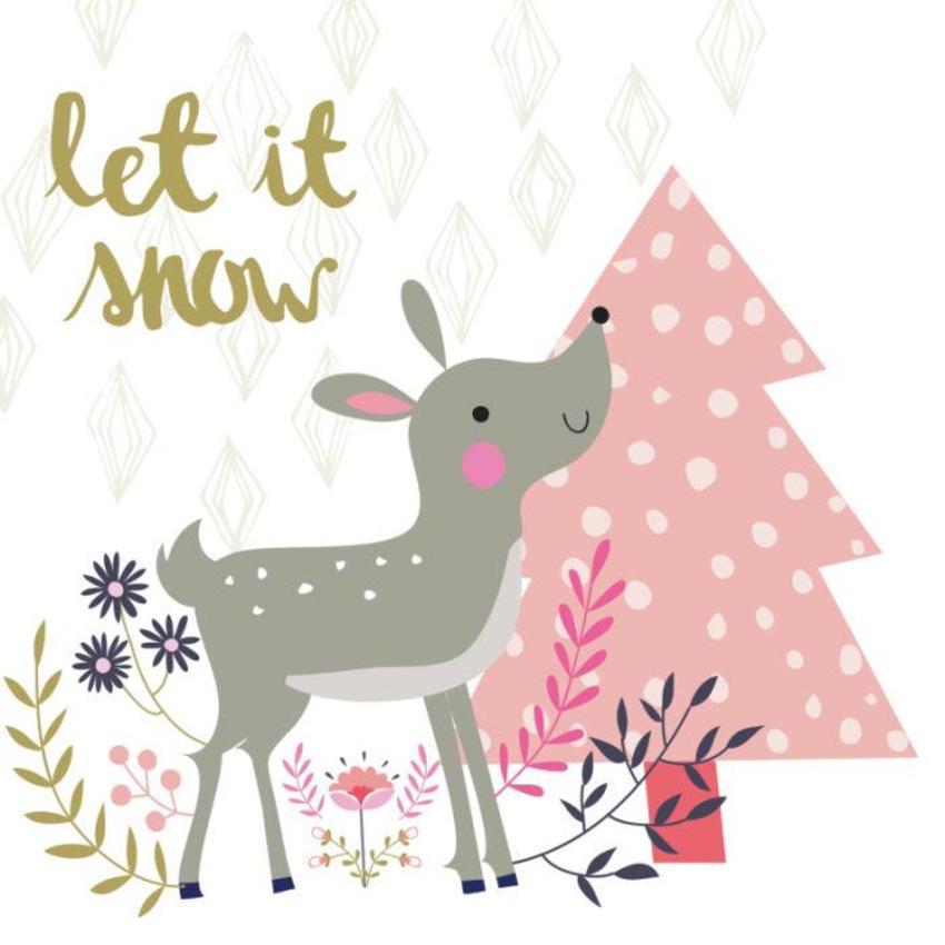 Christmas Card - GM_Deer And Tree