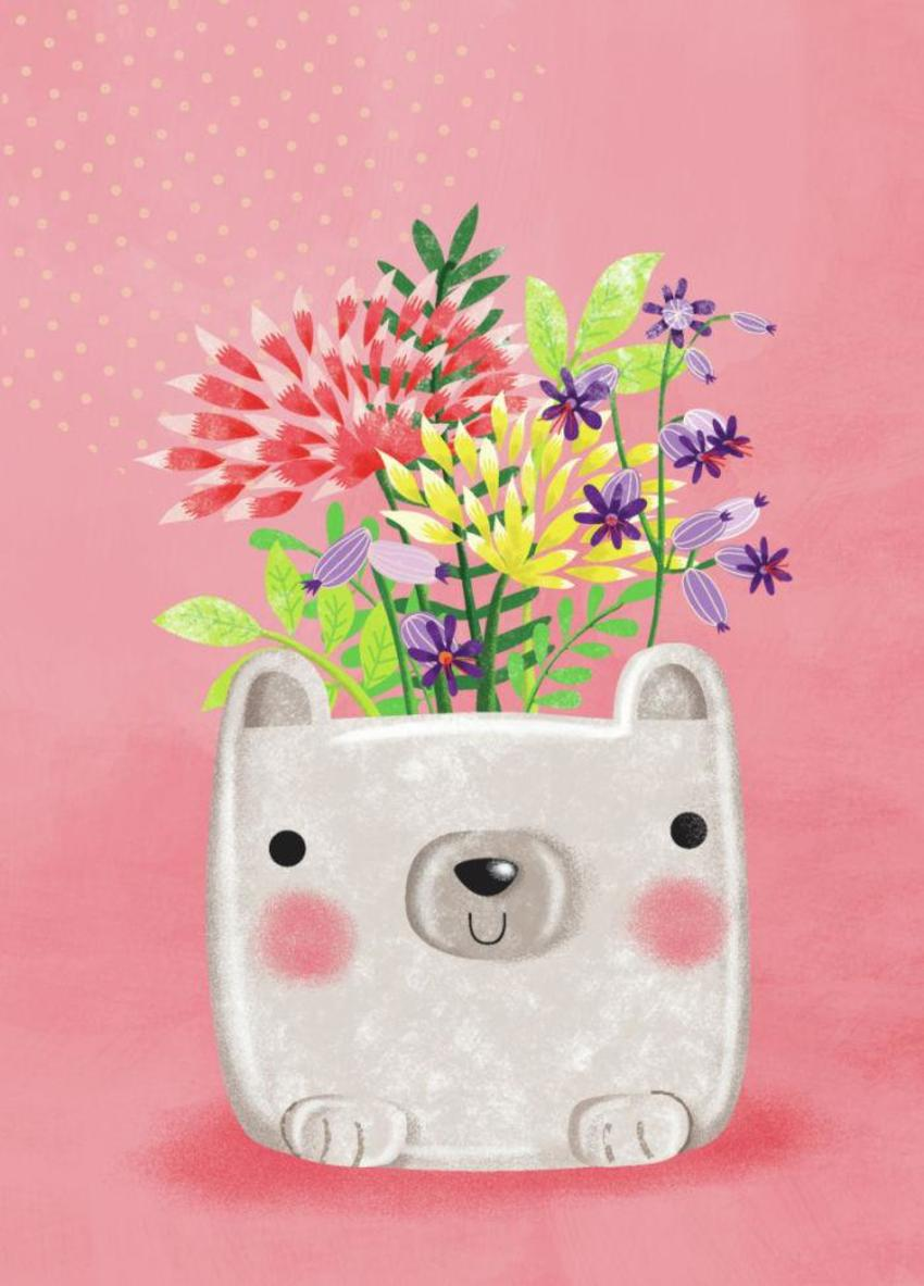 Bear Pot Plant-GM