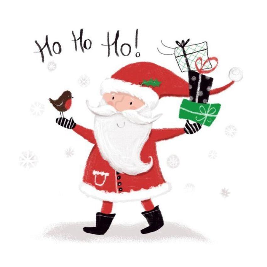 Santa And Robin- Melanie Mitchell