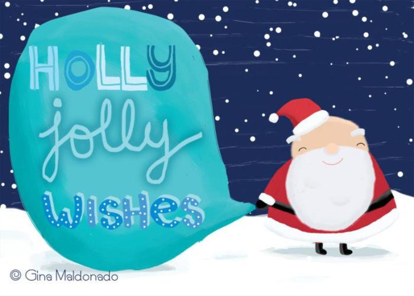Holly Jolly Wishes Card - GM