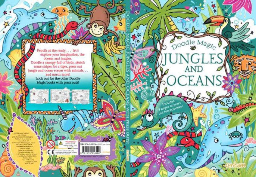 Doodle Book Jungles And Oceans
