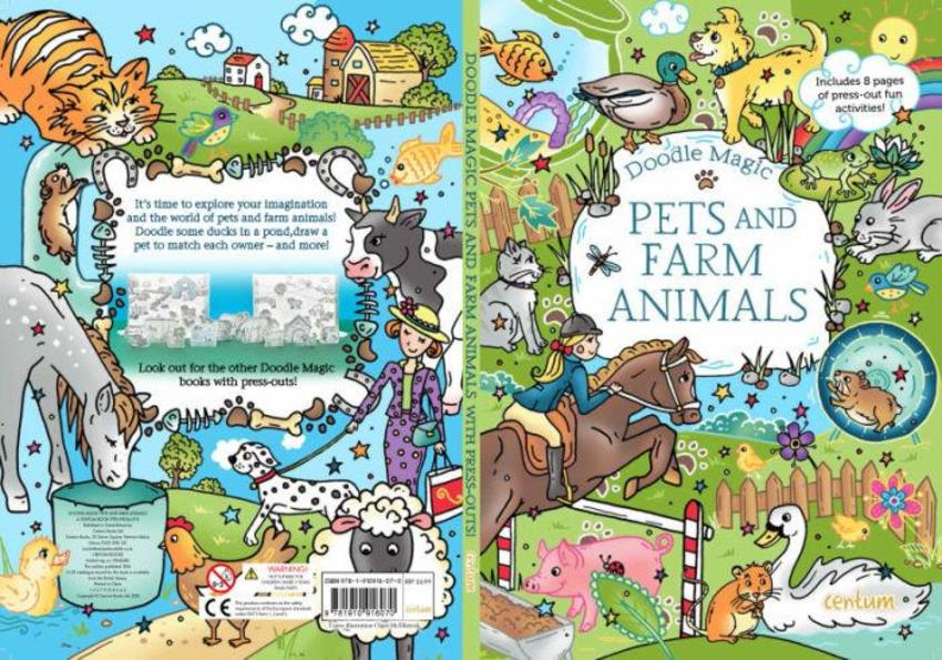 Doodle Book Pets & Farm Animals