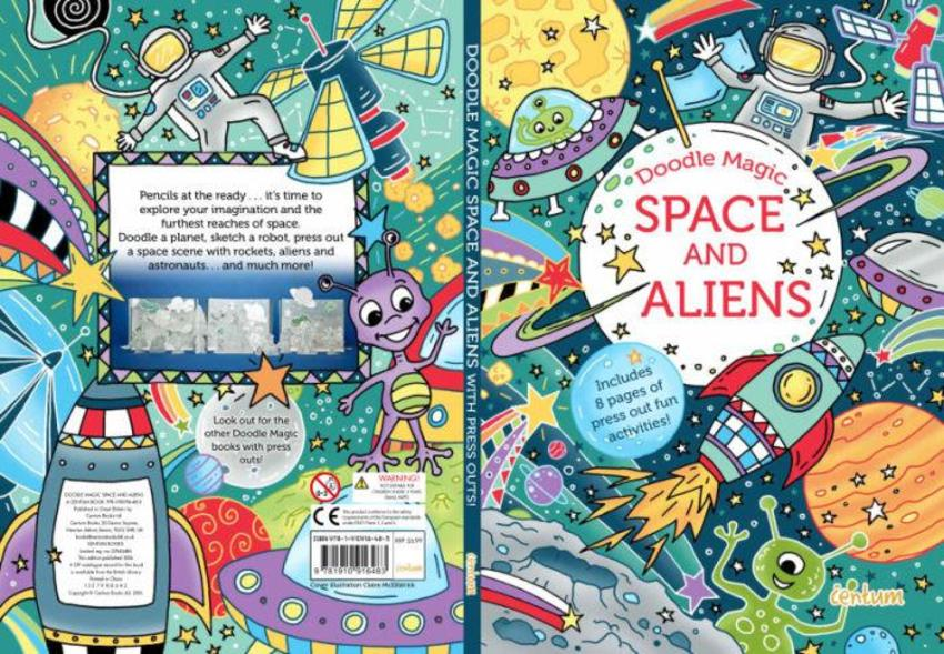 Doodle Book Space And Aliens