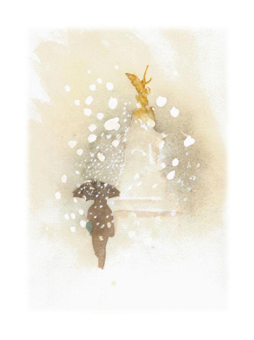 London Christmas Snow Eros