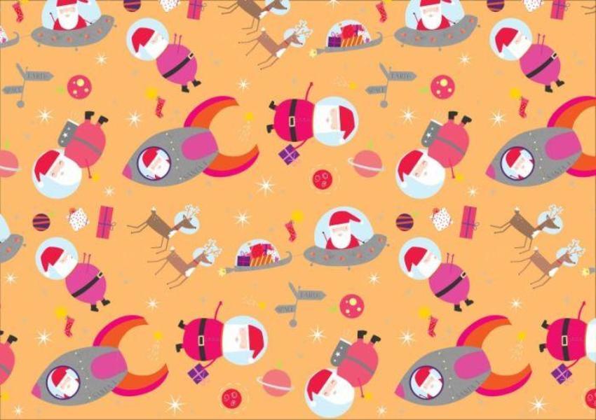 Santa-in-space-pattern