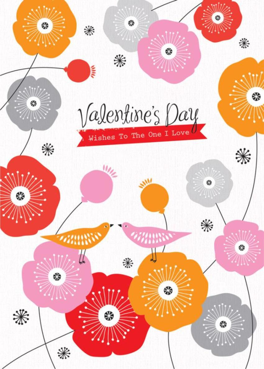 Love Valentines Day Anniversary Engagement Birds And Flowers Poppies