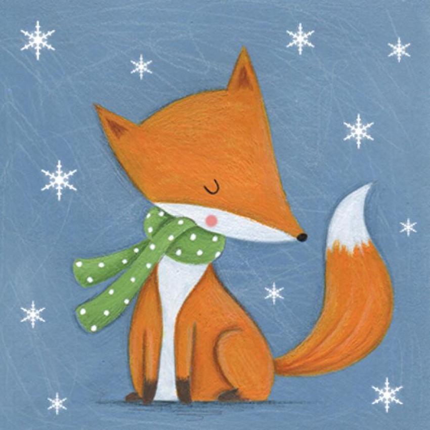 Christmas Fox Snowflakes
