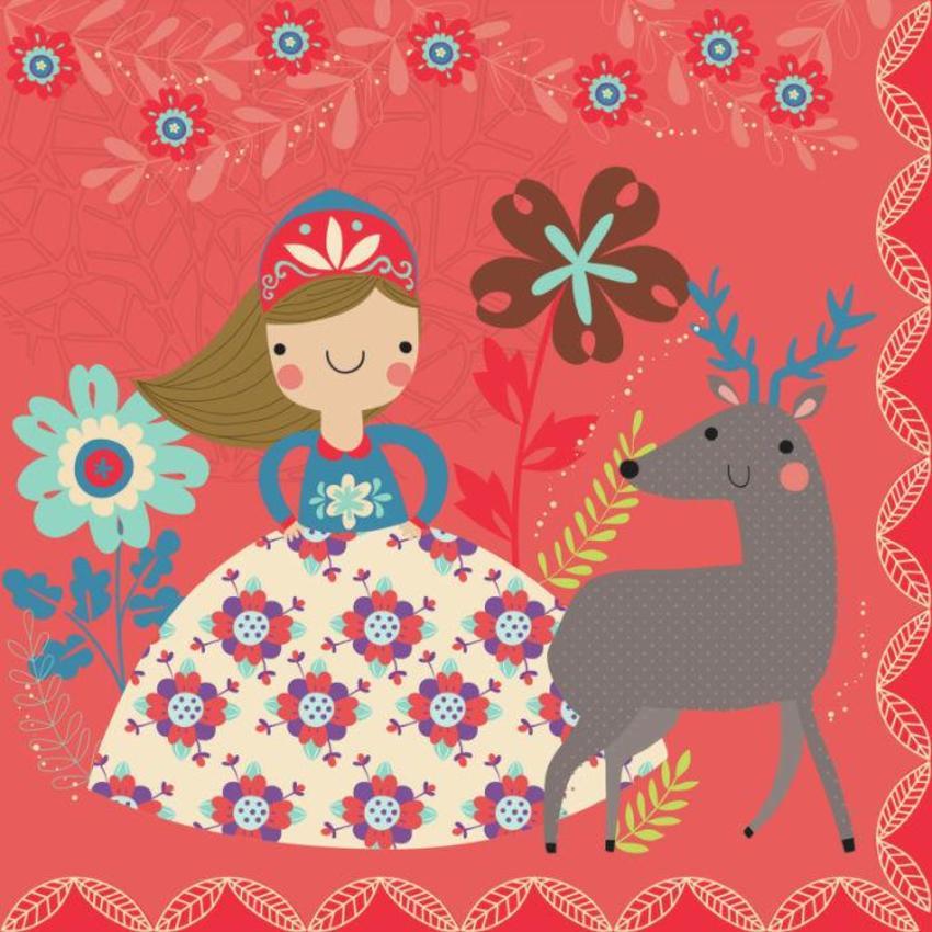 Girl With Reindeer - Gina Maldonado