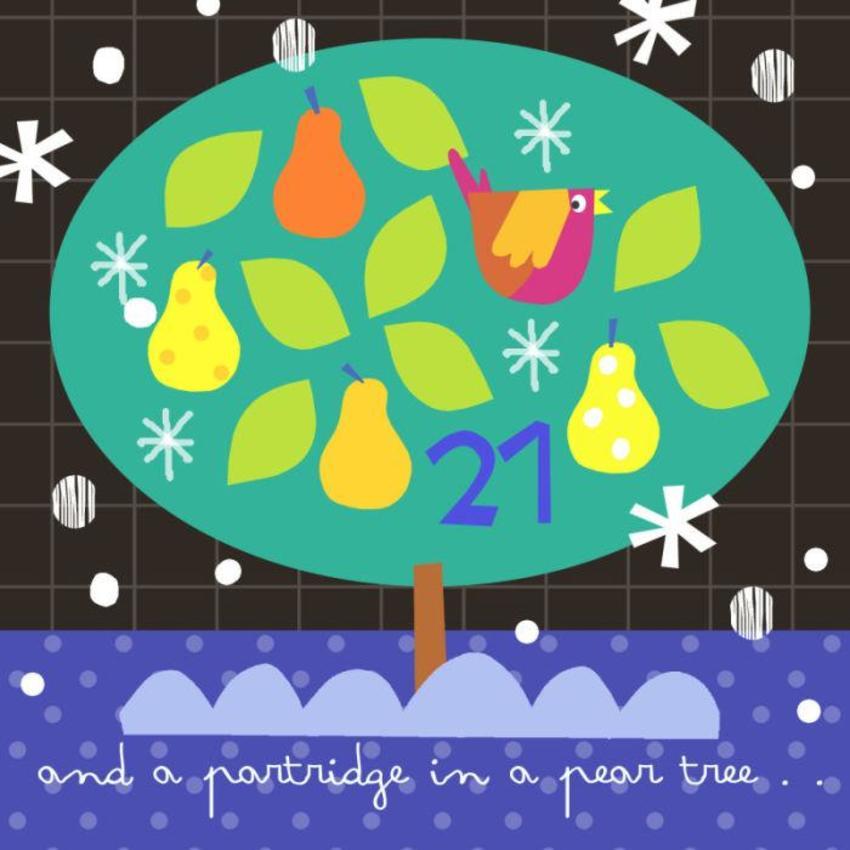 21 J Schof Partridge In A Pear Tree Advent