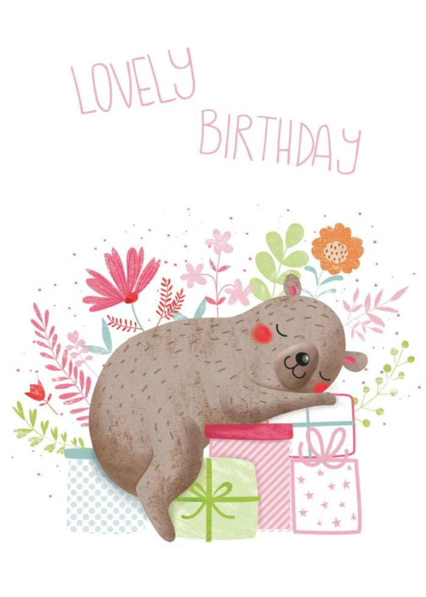 Flowery Bear - Lovely Birthday - GM