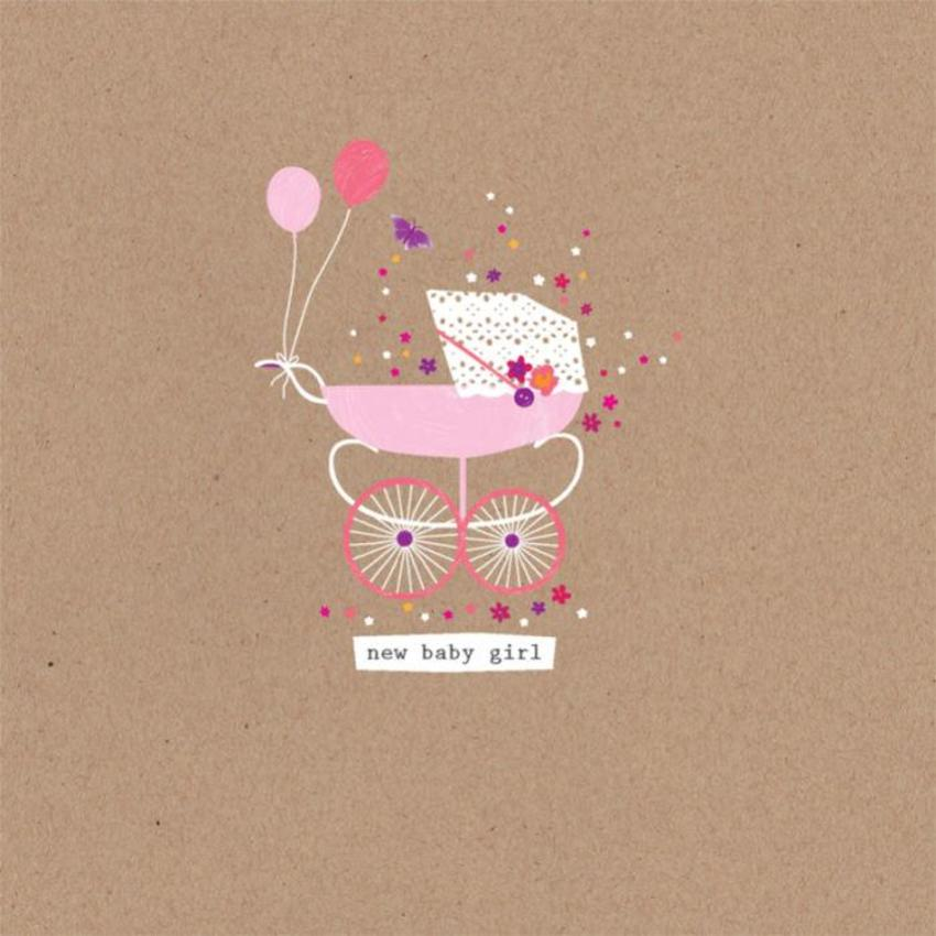 New Baby Girl Baby Carriage Pram With Balloons