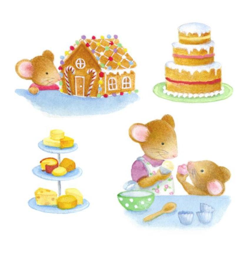 Mice Mum Daughter Baking
