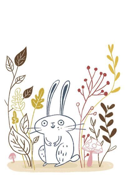 rabbit-line-bunny-plants