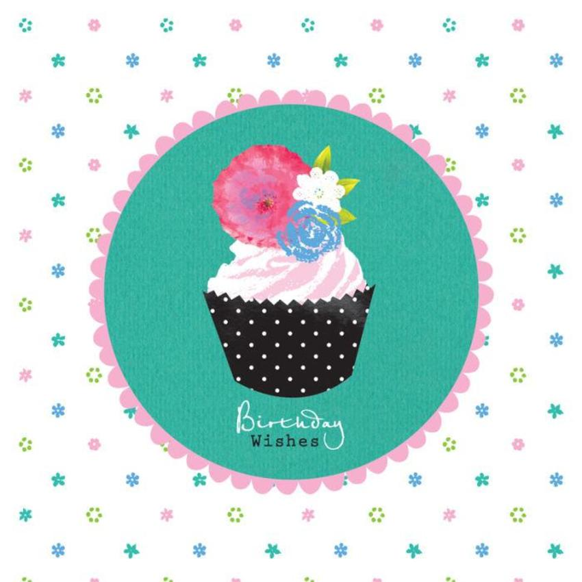 Female Birthday Cake Cupcake With Flowers
