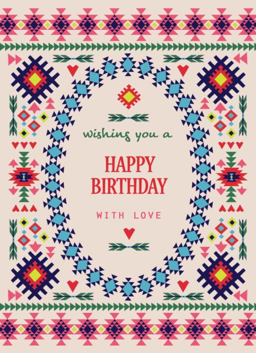 Navajo Pattern Birthday