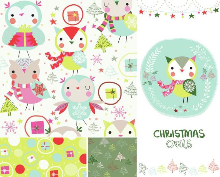 Christmas Owls - Gina Maldonado