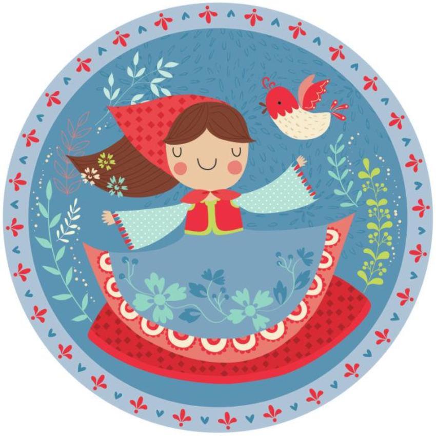 Girl With Bird Plate - Gina Maldonado