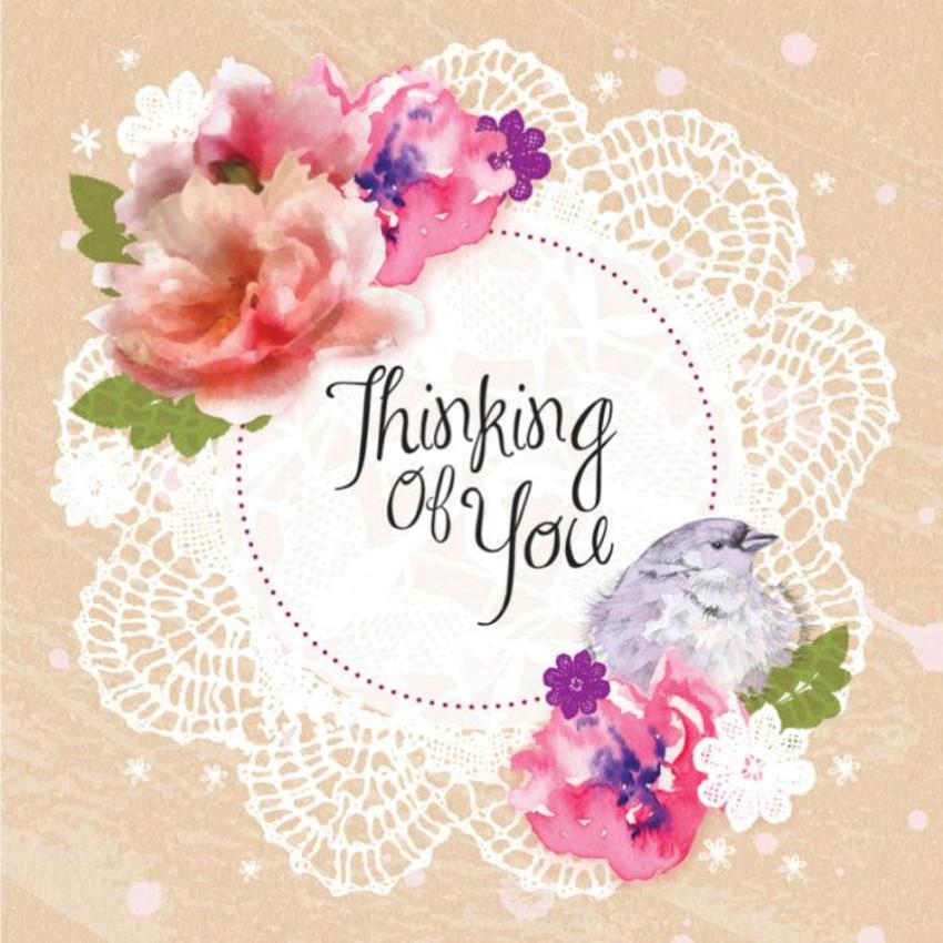 Female Birthday Mothers Day Thinking Of You Thank You Floral Flowers And Banner