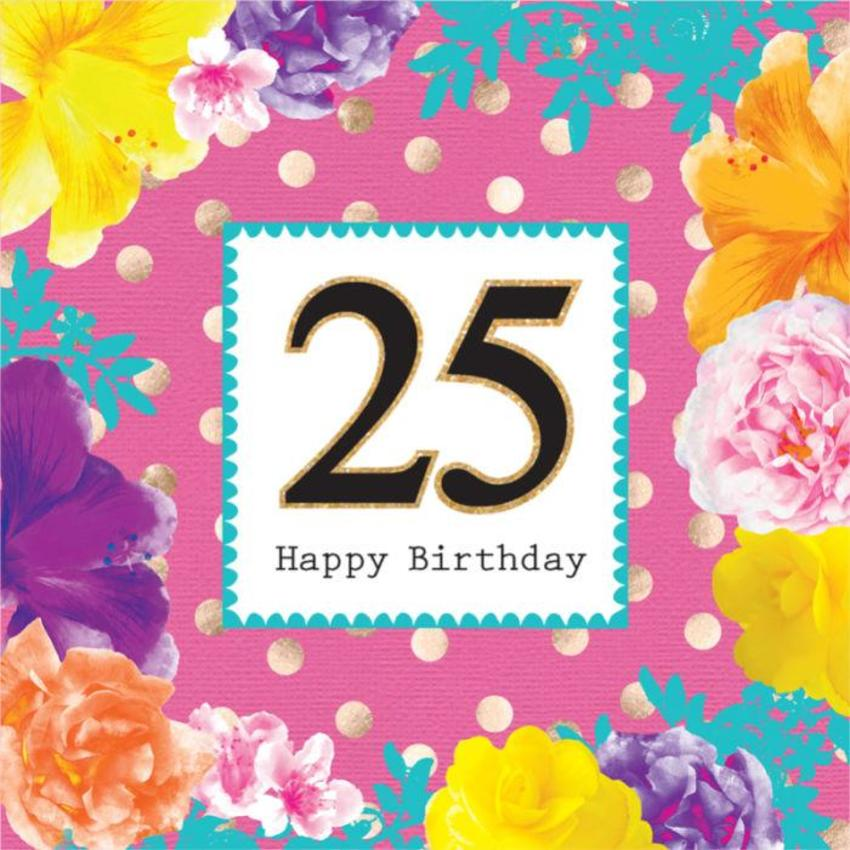 Female Birthday Big Number Milestone Age Birthday Tropical Flowers Floral With Gold Spots 2