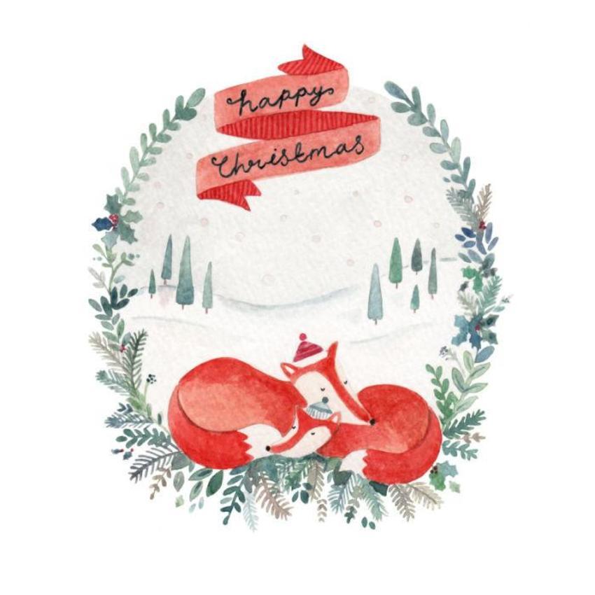 FF Christmas Foxes