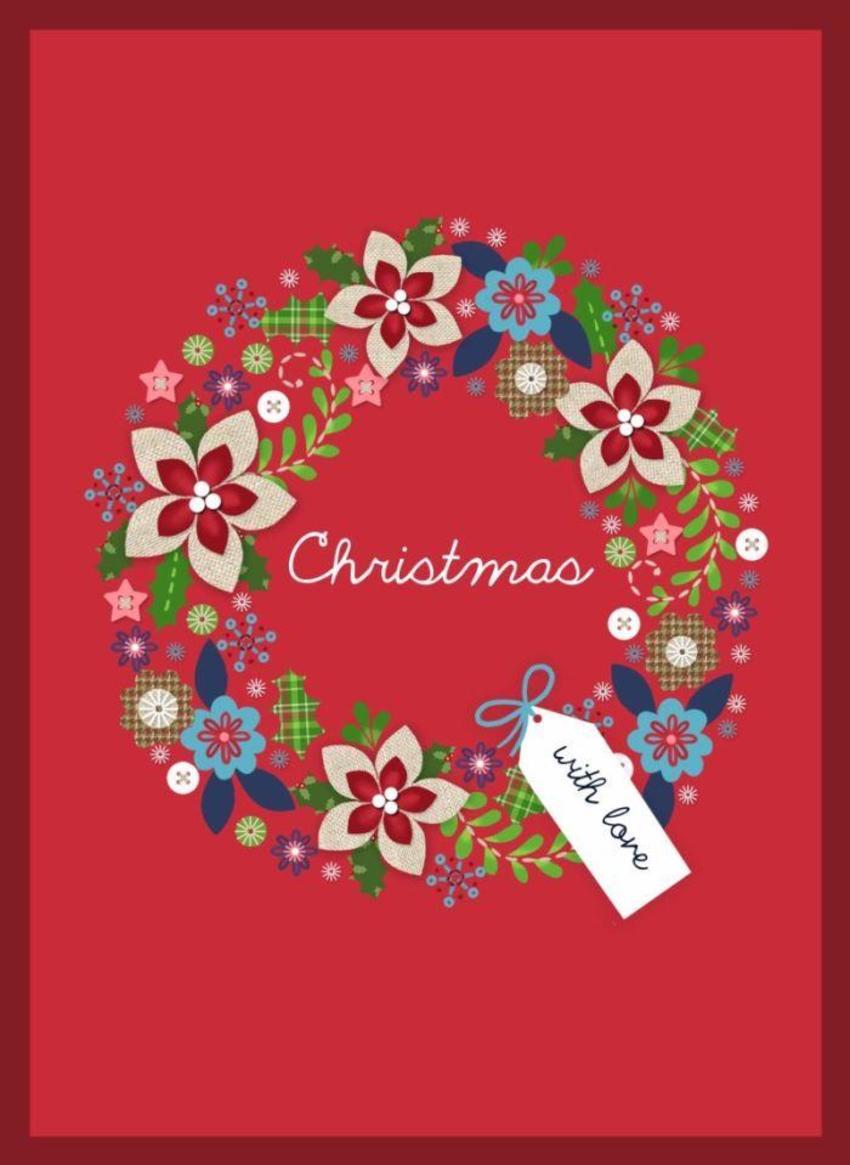 NT02 Linen Christmas Card  Copy4