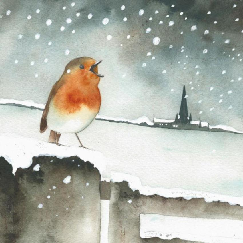 Robin Snow Christmas Church