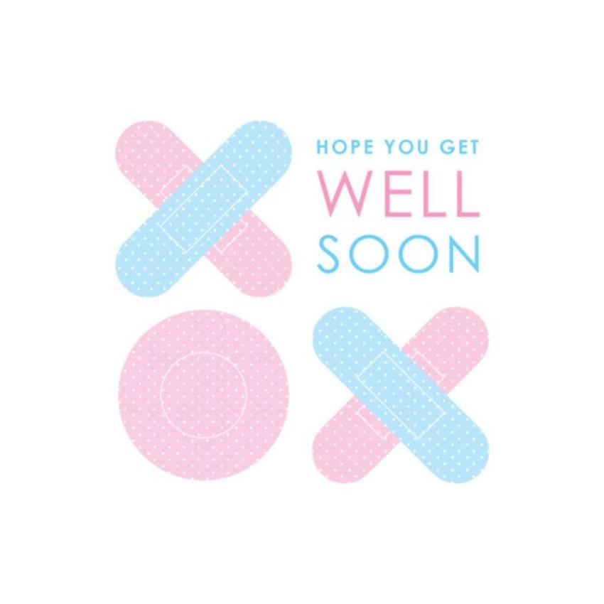 Get Well Soon Contemporary Bandaids Hugs And Kisses