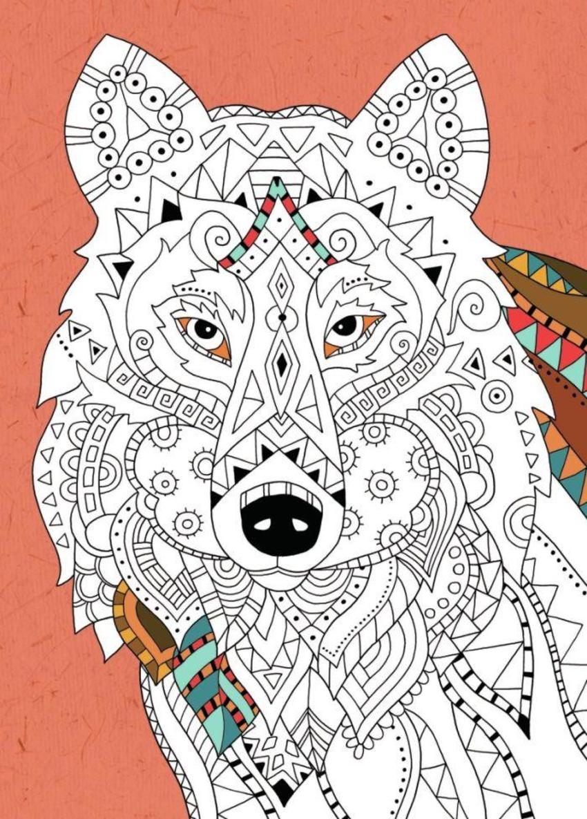 Wolf Colouring
