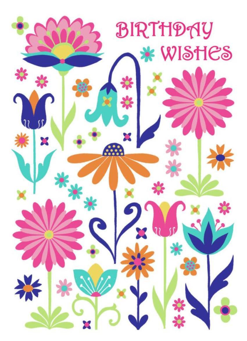 Bright Flowers Birthday Wishes