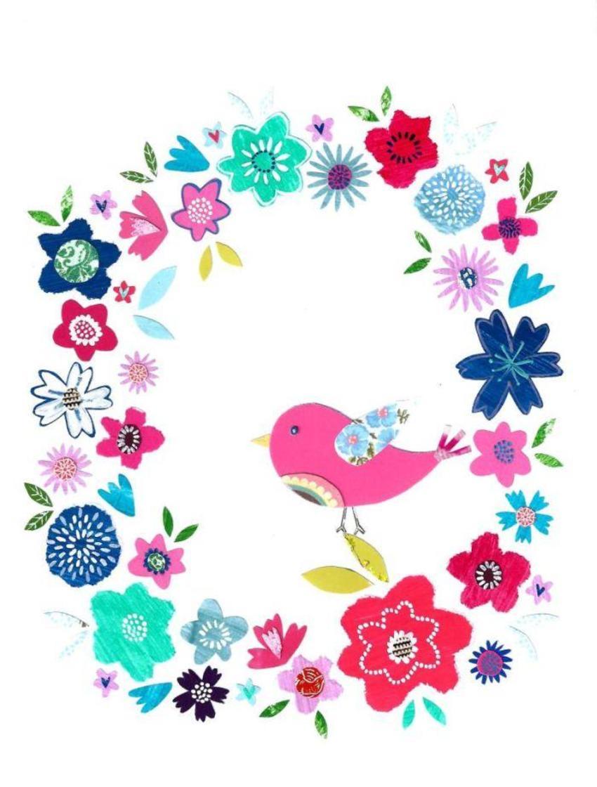 Liz & Kate Flowers Around Bird
