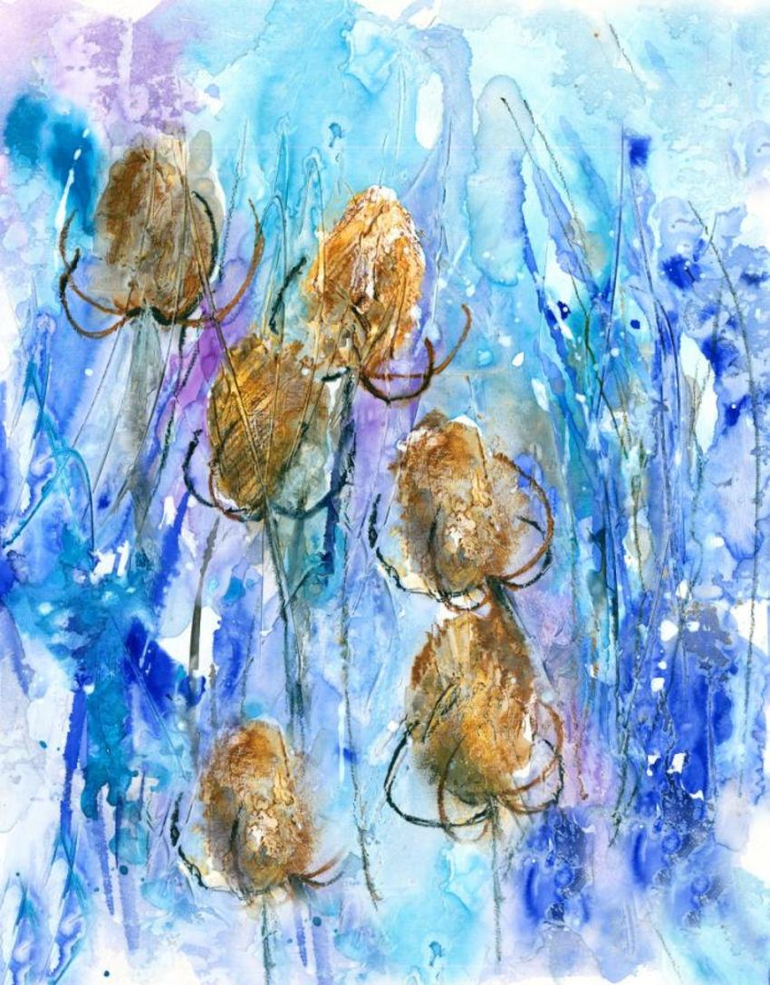 Winter Teasels