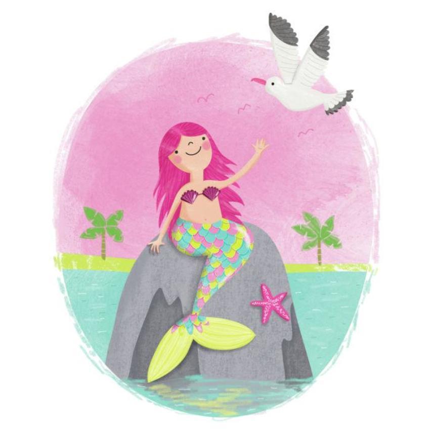 Mermaid With Seagull  - Gina Maldonado