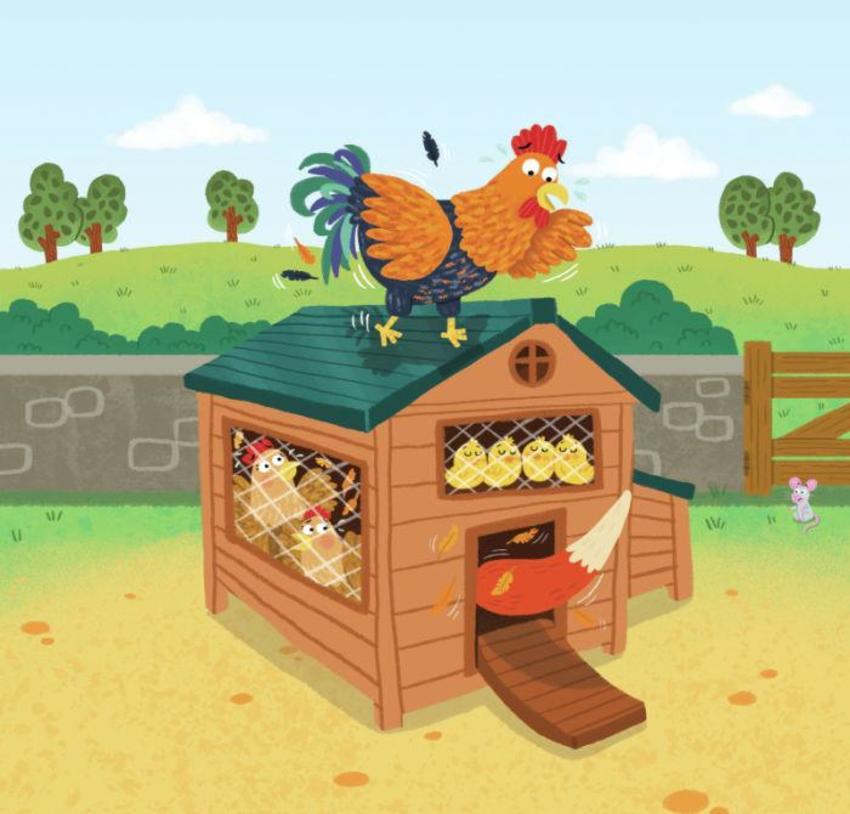 Farm Hen House Fox