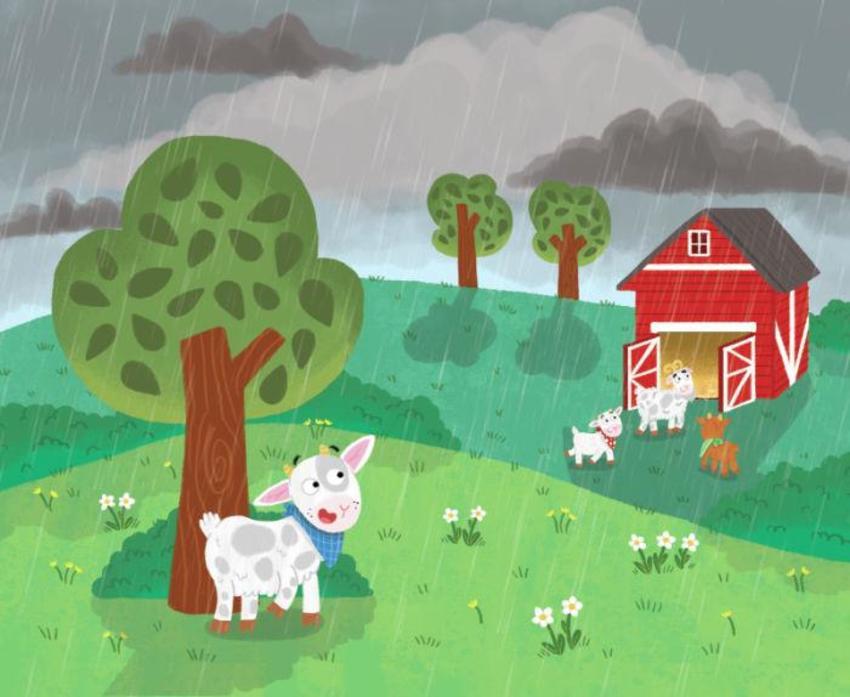 Farm Goats Storm