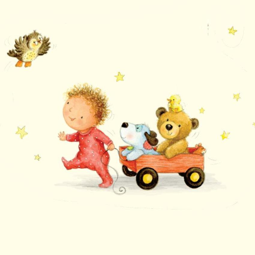 Baby, Owl, Teddy, Dog And Duck