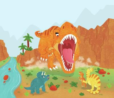dinosaurs-chase-t-rex