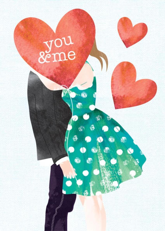 Love Valentines Day Boyfriend Girlfriend Anniversary Teen Boy And Girl Behind Heart Balloon 1