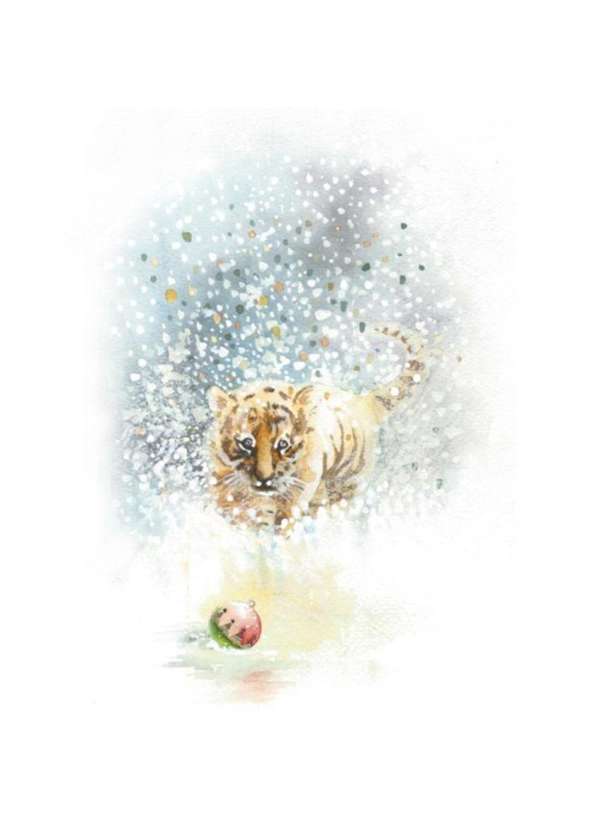 Tiger Snow Christmas