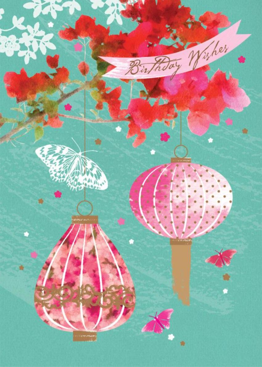 Female Birthday Mothers Day Floral Chinese Lanterns With Flowers 3