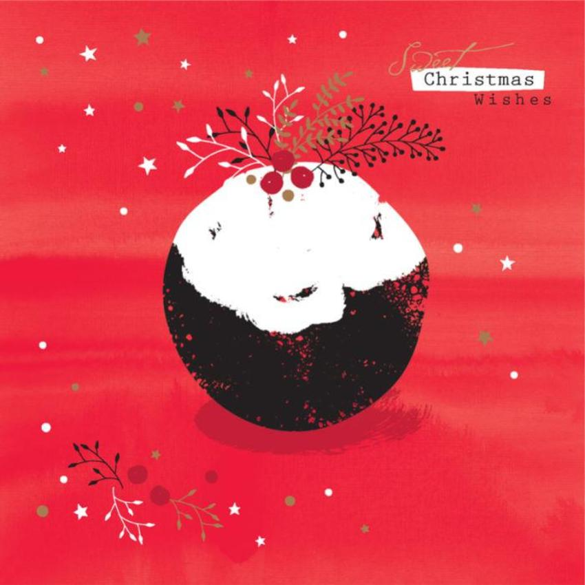 Christmas Pudding With Holly 2