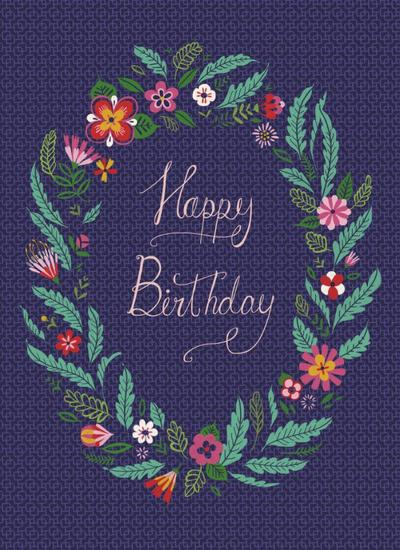 floral-frame-birthday-card