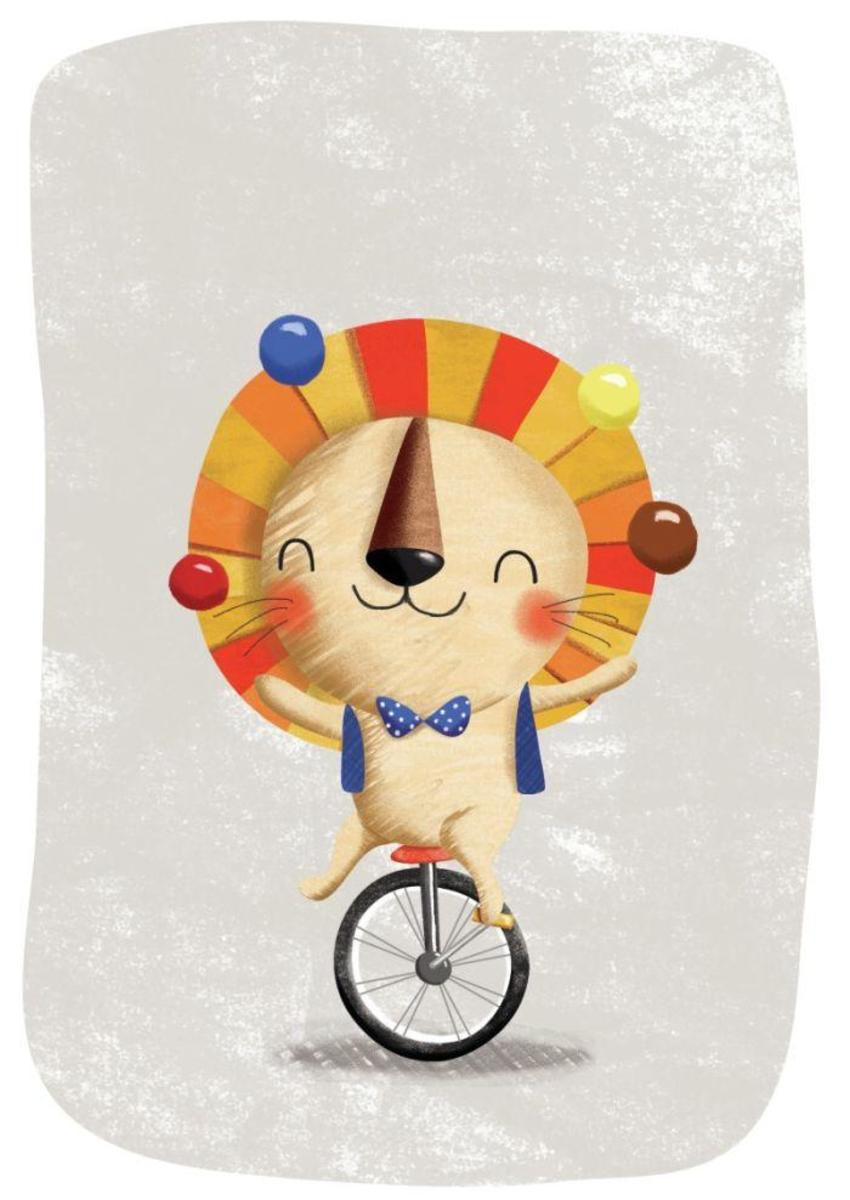 Circus - Lion In Monocycle - GM