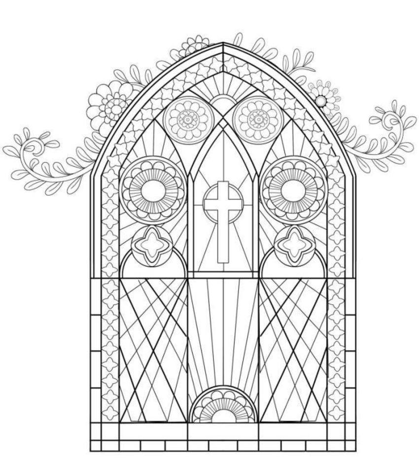 Religious-colouring-book-stained-glass-window